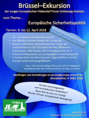Brüssel-Exkursion vom 08.-12.04.2018 – jetzt anmelden!